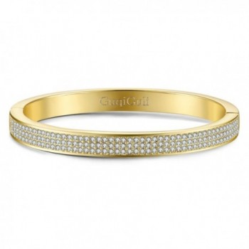 GuqiGuli Swarovski Elements Gold Tone Bracelet - Yellow Gold - CY186DMGMST