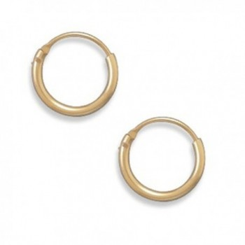 Gold Filled 11mm Diameter 12/20 Endless Hoop Earrings - CR11GS3CX6J