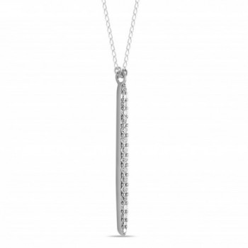 Sterling Vertical Necklace Layering Minimalist - CN12JLZ7ZZT