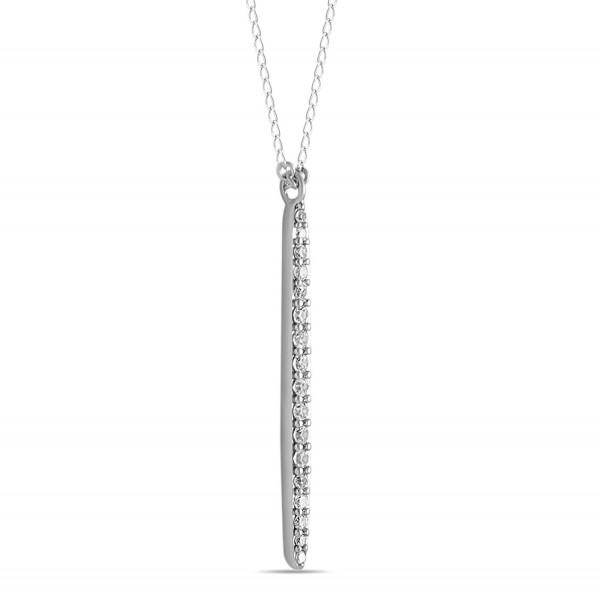 Sterling Vertical Necklace Layering Minimalist - CN12JLZ7ZZT