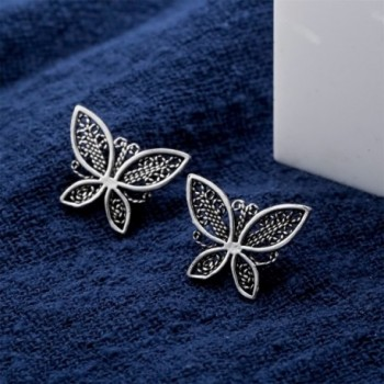 YACQ Jewelry Sterling Butterfly Earrings