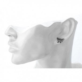 YACQ Jewelry Sterling Butterfly Earrings in Women's Stud Earrings