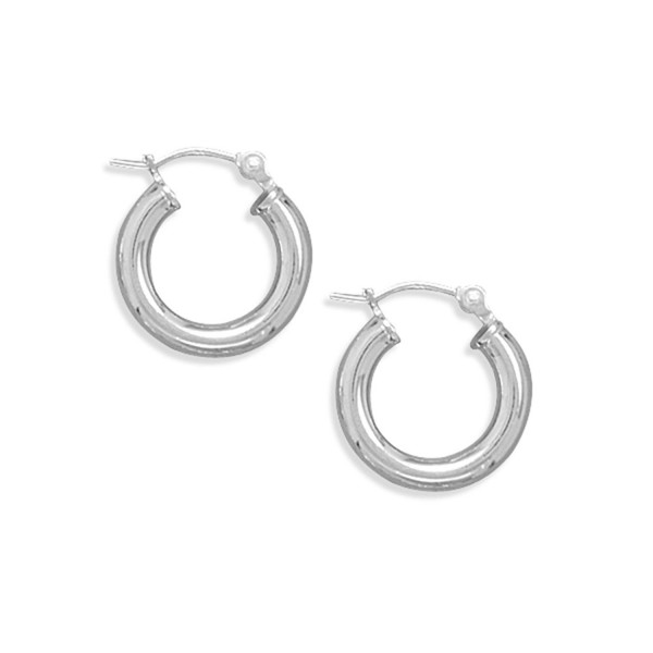 Hoop Earrings Extra Extra Small 3mm x15mm Round Tube Sterling Silver - CN112Y0KT1V