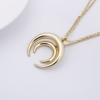 TUSHUO Pendent Crescent Necklace Adjustable