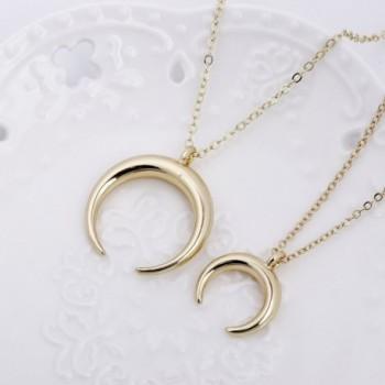 TUSHUO Pendent Crescent Necklace Adjustable in Women's Pendants