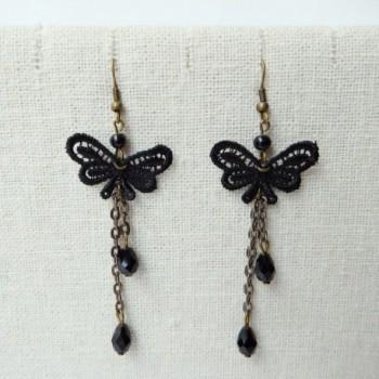 RareLove Lolita Butterfly Fringe Earrings in Women's Drop & Dangle Earrings