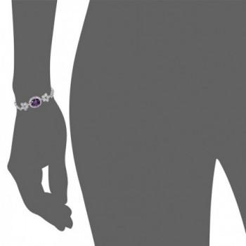 OKAJEWELRY 10 28Ct Sapphire Zirconia Bracelet in Women's Tennis Bracelets
