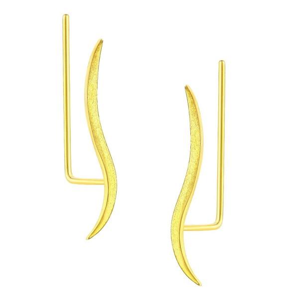 DOMILINA Sterling Crawler Earrings Delicate - Gold - CM1899KNAAH