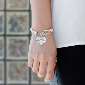Ukraine Bracelet Silver Lobster Crystal in Women's Link Bracelets