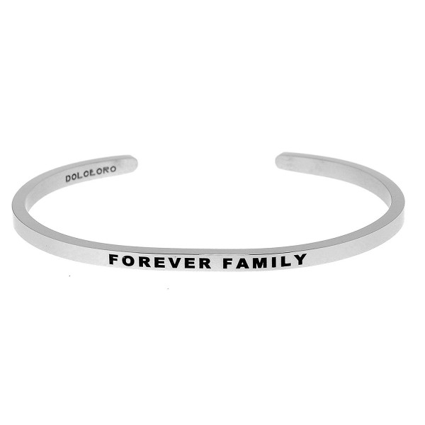 Mantra Phrase: FOREVER FAMILY - 316L Surgical Stainless Steel - CU187YQQHXQ