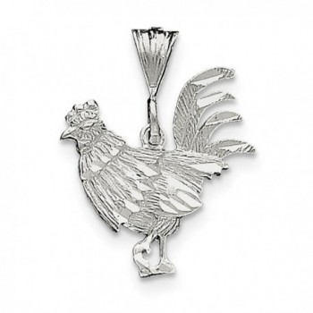 Sterling Silver Rooster Charm (1IN long x 0.9IN wide) - C8119CBDIDL