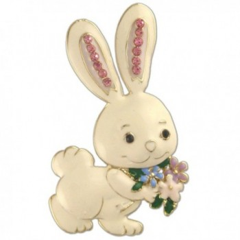 CRYSTAL RHINESTONE RABBIT EASTER PIN BROOCH MADE WITH SWAROVSKI ELEMENTS - C911R91HRIN
