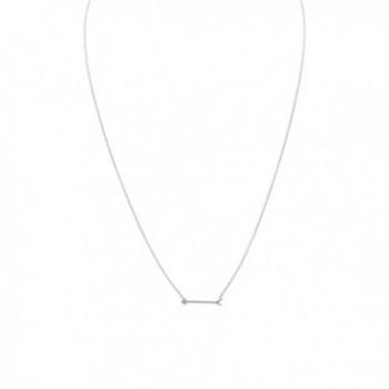 925 Sterling Silver 16 Inch Arrow Design Necklace - CP11DKKZSHT