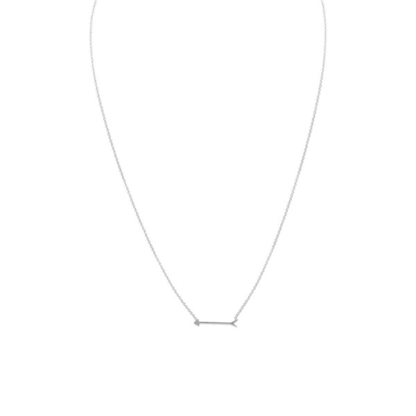 925 Sterling Silver 16 Inch Arrow Design Necklace - CP11DKKZSHT