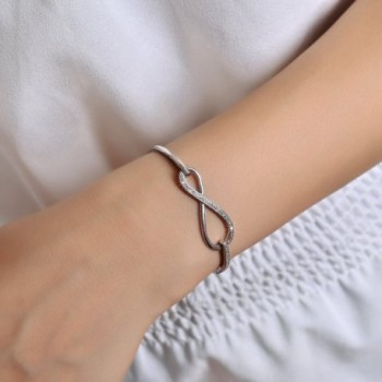 SPILOVE Crystal Infinity Adjustable Bracelets in Women's Bangle Bracelets