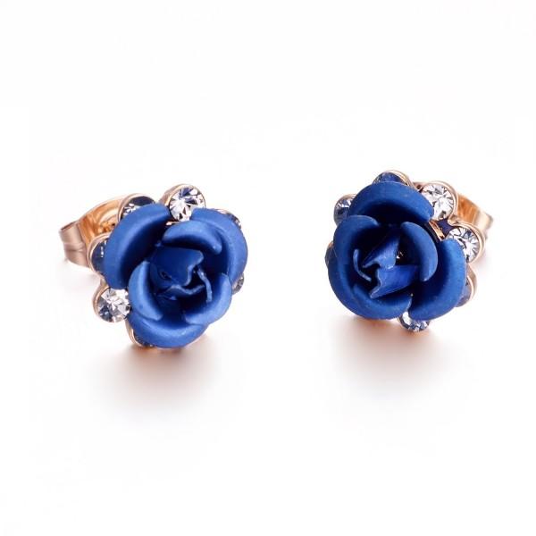 Yoursfs Filigree Earrings Leverback Jewellery - Rose Flower - C212O751G0K