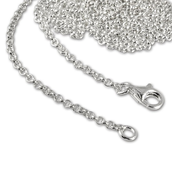SilberDream Charms Necklace 925 Sterling Silver 15.7 inch Necklace for Charm Pendants FC00294-1 - CB116VABQJN