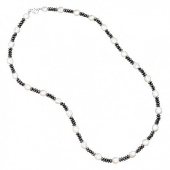 Honora Freshwater Cultured Hematite Necklace