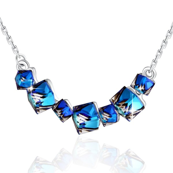 Necklace PLATO Changing necklace Swarovski - Ocean blue - CK12GOTB8M1