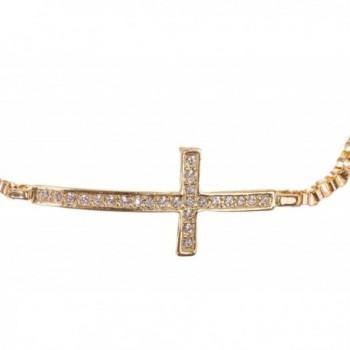 Alloy Swarovski Crystal Sideways Bracelet