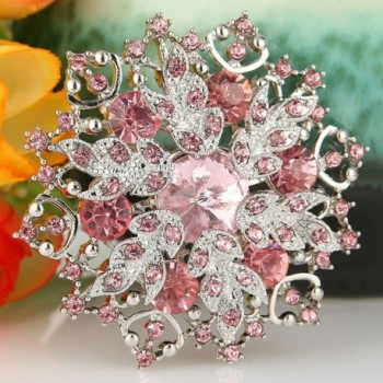 EVER FAITH Austrian Crystal Snowflake in Women's Brooches & Pins