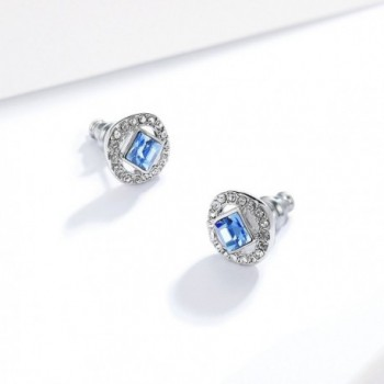 Angelic Earrings Swarovski Sapphire Crystals