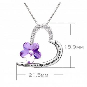 ALOV Jewelry Sterling Zirconia Necklace