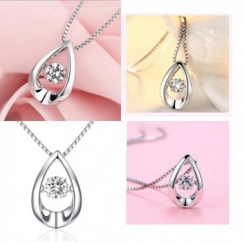 Teardrop Necklace Sterling Zirconia Infinity in Women's Pendants