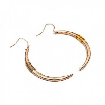Yolanda Handmade Vintage Crescent Earrings