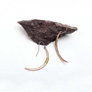 Yolanda Handmade Vintage Crescent Earrings in Women's Drop & Dangle Earrings