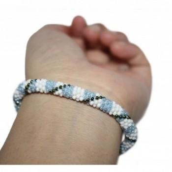 Crochet Glass Bracelet Nepal SB629 in Women's Strand Bracelets