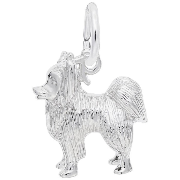 Dog- Papillon Charm- Charms for Bracelets and Necklaces - CX115J7B31B