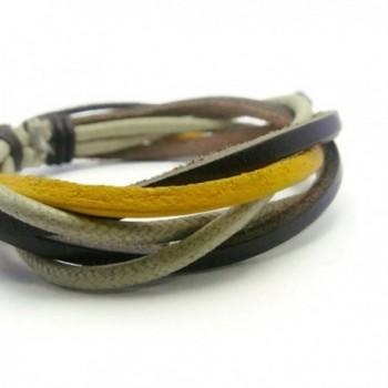 APECTO Leather Braided Bracelet Handmade in Women's Link Bracelets