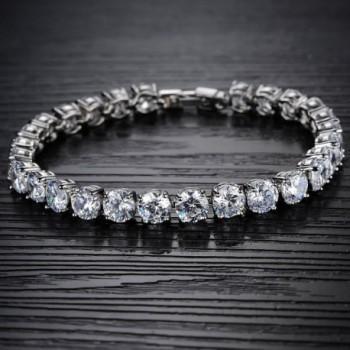OPK Jewelry Platinum Bracelet Zirconia
