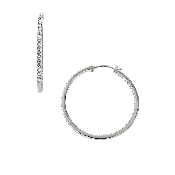 Fossil Womens Glitz Hoops Small Earrings - Silver - C2119PU5HU1