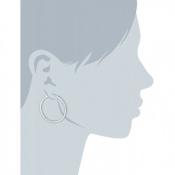 Fossil Glitz Silver Hoop Earrings in Women's Hoop Earrings