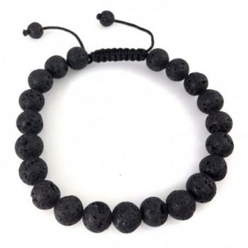 lava Healing Bracelet Volcanic Lava Yoga beads Mala meditation prayer beads Healing wrist mala L-?5 - CK182I5N5UX
