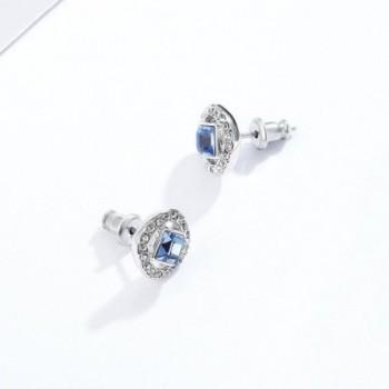 Angelic Earrings Swarovski Sapphire Crystals in Women's Stud Earrings