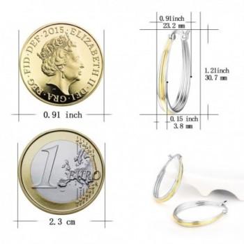Two tone Jewelry Sterling Silver Earrings in Women's Hoop Earrings