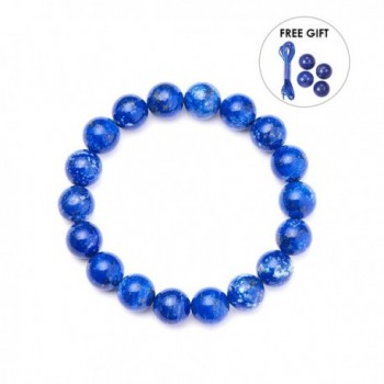 SUNNYCLUE Natural Lapis lazuli Gemstones Bracelet - Lapis Lazuli - C317YZQI4NC