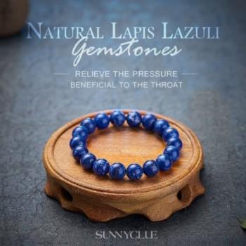 SUNNYCLUE Natural Lapis lazuli Gemstones Bracelet