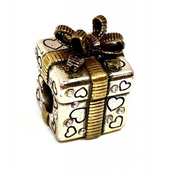 Brighton Gift Box Stopper Bead- J95142- Two Tone Finish - C312O7HMJRA