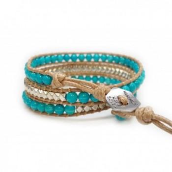 Womens Beaded Bracelet Turquoise Handmade