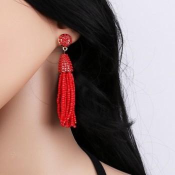 MELUOGE Womens Beaded Tassel Earrings in Women's Drop & Dangle Earrings