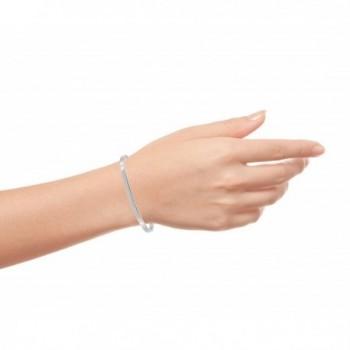 Pink Box Solid Stainless Bracelet in Women's Cuff Bracelets