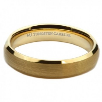 MJ Tungsten Carbide Brushed Polished in Women's Wedding & Engagement Rings