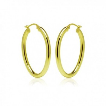 Yellow Flashed Sterling Silver Earrings