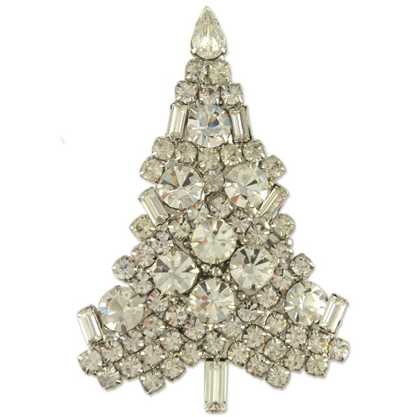 NEW CLASSIC CRYSTAL CHRISTMAS TREE BROOCH PIN MADE WITH SWAROVSKI ELEMENTS - C212O9QDNKR