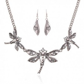 Winter.Z Dragonfly jewelry accessories hollow retro fashion sweater chain necklace - CT120YS96CH