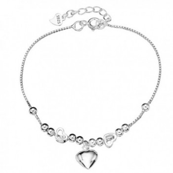 EleQueen 925 Sterling Silver Love Heart of Ocean Titanic Inspired Bead Charm Bracelet Chain - CP12CUOTPIN
